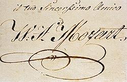 Mozart - Autograf