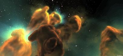 Staubwolken formen sich neue Sterne