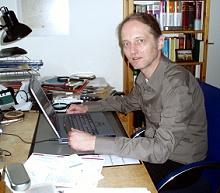 An diesem Schreibtisch plant und organisiert Rüdiger Käßner