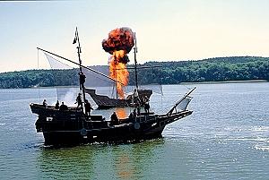 Brennende Hansekogge