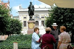 Goethe vor Handelsbörse