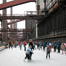 Essen_Kokerei Zollverein_Eisbahn