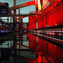 Essen_Kokerei_Zollverein_Illumination