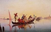 FRANZ CATEL - GONDEL VOR VENEDIG, UM 1839, INV. NR. 1972-24