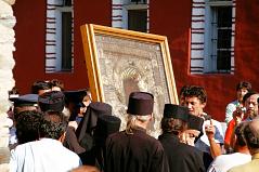 Ikonenprozession Im Kloster Iviron
