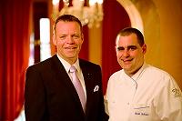 Hoteldirektor Ralf J. Kutzner und Küchenchef Dirk Schröer