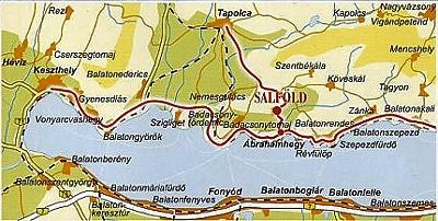 Landkarte  Balatonregion