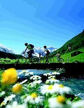 Radfahrer in Davos