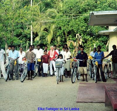 Elke Fiebiger in Sri Lanka