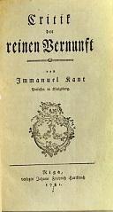 Die Erstausgabe von Kants Hauptwerk